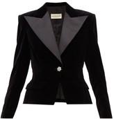 Alexandre Vauthier Crystal-button Cotton-velvet Blazer - Womens - Black