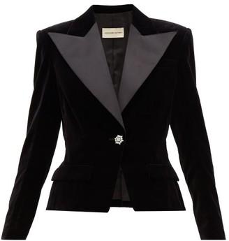 Alexandre Vauthier Crystal-button Cotton-velvet Blazer - Black