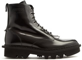 Neil Barrett Pierced patent-leather ankle boots