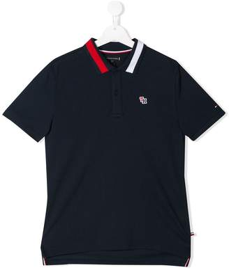 Tommy Hilfiger Junior contrasting collar polo shirt