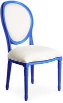 One Kings Lane Melrose Outdoor Chair, White/Cobalt