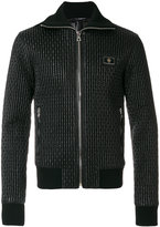Dolce & Gabbana quilted bomber jacket - men - Calf Leather/Sheep Skin/Shearling/Polyamide/Zamak - 48