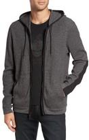 John Varvatos Men's Contrast Trim Zip Front Hoodie