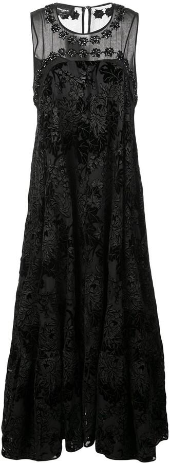 Rochas Floral Brocade Dress