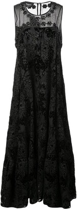 Rochas Floral Brocade Dress