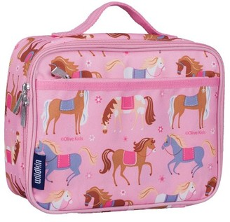 Olive Kids Horses Pink Insulated Lunch Box for Boys and Girls