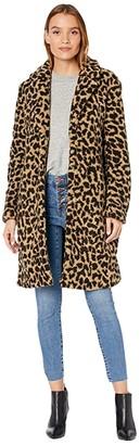 J.Crew Leopard Ariana Sherpa Topcoat (Tan Brown) Women's Coat