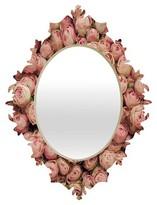 DENY Designs Decorative Wall Mirror Tea Rose