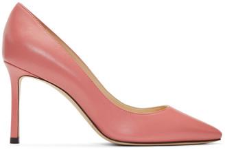 Jimmy Choo Pink Leather Romy 85 Heels