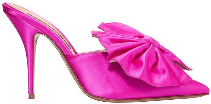 Alexandre Vauthier Kate Shocking Pink Mules