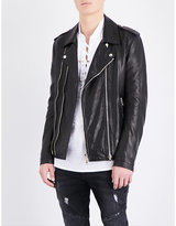 Balmain Blouson Leather Biker Jacket