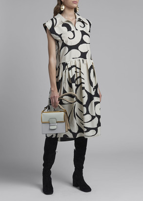 Marni Swirl-Print Cap-Sleeve Shirtdress