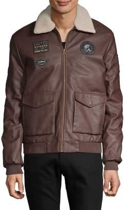 Buffalo David Bitton Faux Fur-Trim Full-Zip Jacket