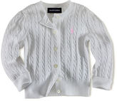 Ralph Lauren Long Sleeve Cotton Cardigan Sweater With Polo Player