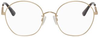 McQ Gold Swallow Circular Glasses
