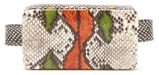 Lutz Morris Evan Snake-effect Leather Belt Bag - Multi