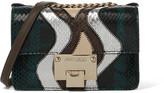 Jimmy Choo Rebel Soft Mini Watersnake Shoulder Bag - Brown