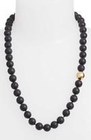 Simon Sebbag Women's Vermeil Bead Matte Onyx Necklace