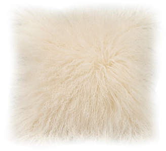 Moe's Home Collection Lamb Fur Pillow Cream