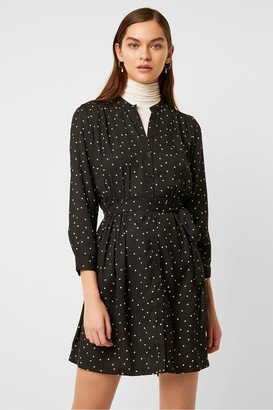 French Connection Star Print Belted Shirt Dress