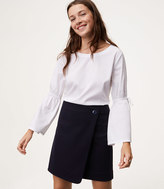 LOFT Button Wrap Skirt