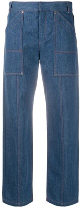 Chloé Cropped Straight-Leg Jeans