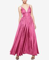Fame and Partners V-Neck Dress with Full Skirt