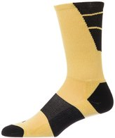 Custom Socks Ink CSI Point Guard Performance Crew Socks Made In The USA Black/Ath Gold