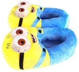 Unknown Minion Despicable Cotton Slippers 3D Eyes Kevin Soft Plush Slippers Cosplay Indoor Shoes Stuffed