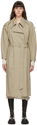 System Beige Wrap Trench Coat