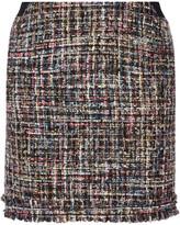Karl Lagerfeld Metallic Bouclé-tweed Mini Skirt - Black