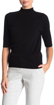 Catherine Malandrino Mock Neck Elbow Sleeve Cashmere Sweater