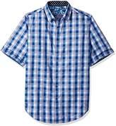 Robert Graham Men's Tall Size Greenfield S/s Woven Shirt