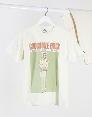 Vintage Supply oversized t-shirt with elton john graphic