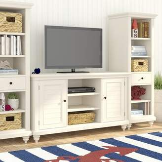 Beachcrest Home Harrison Solid Wood Entertainment Center for TVs up to 60 inches Color: Brushed White