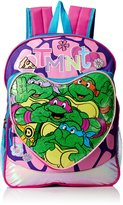 Nickelodeon Teenage Mutant Ninja Turtles Little Girls Heart Pocket 16 Inch Backpack