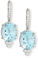 Rina Limor Fine Jewelry 18K White Gold & Blue Topaz Oval Drop Earrings