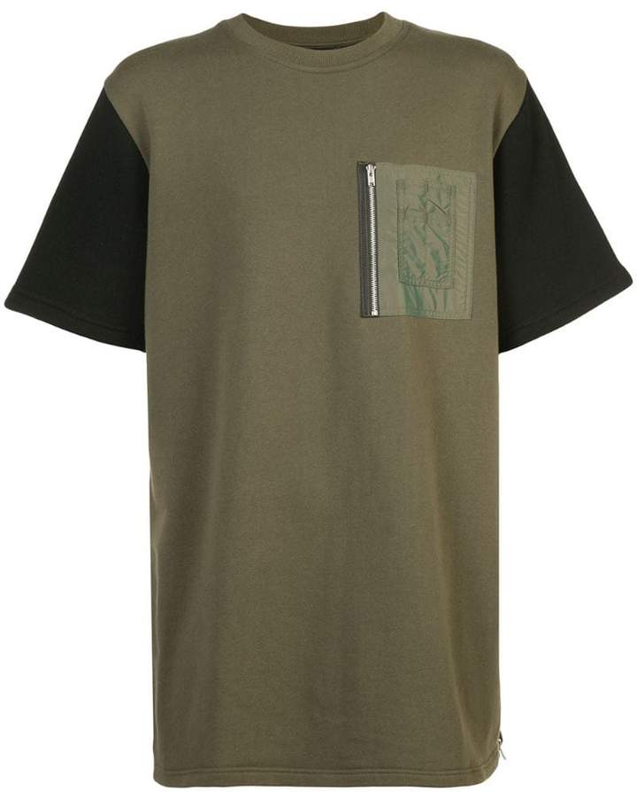Mostly Heard Rarely Seen contrast fitted T-shirt
