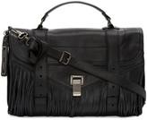 Proenza Schouler Black Fringed Medium PS1 Satchel