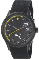 Puma Motorsport Wheel 3HD Unisex Quartz Watch with Black Dial Analogue Display and Black Plastic or PU Strap PU102731003