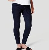 LOFT Maternity Skinny Jeans in Dark Indigo Wash