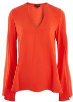 Topshop V-neck tunic blouse