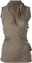 Rick Owens Lilies draped fitted top - women - Cotton/Polyamide/Viscose - 44