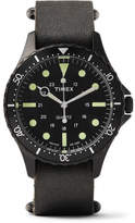 Timex Navi Harbor Stainless Steel And Stonewashed Leather Watch