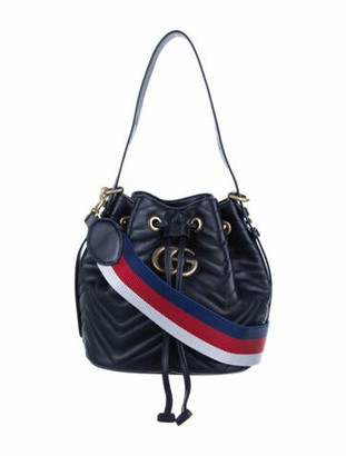 Gucci GG Marmont Matelasse Bucket Bag Black