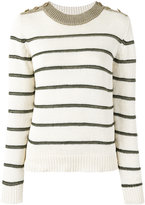 Vanessa Bruno striped jumper - women - Cotton/Linen/Flax/Polyester/Viscose - S