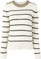 Vanessa Bruno striped jumper - women - Cotton/Linen/Flax/Viscose/Polyester - S