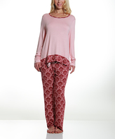 Catherine Malandrino Pink Ikat Pajama Set