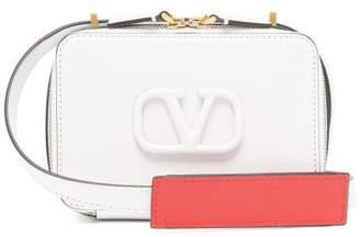 Valentino V-sling Small Leather Cross-body Bag - Womens - White
