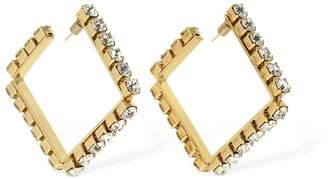 Area Medium Classic Square Hoop Earrings